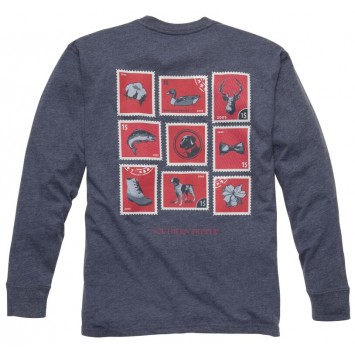 Southern Stamp Tee: True Navy Long Sleeve